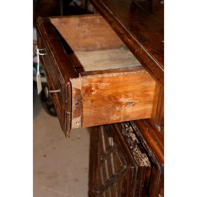 19th Century French Walnut 4 Door Cabinet For Sale - Image 4 of 11