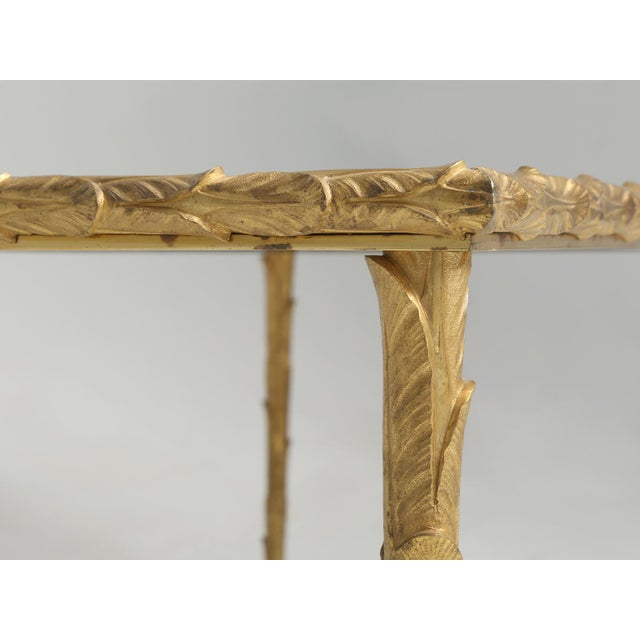Baguès Solid Bronze Gilt Coffee Table For Sale In Chicago - Image 6 of 13