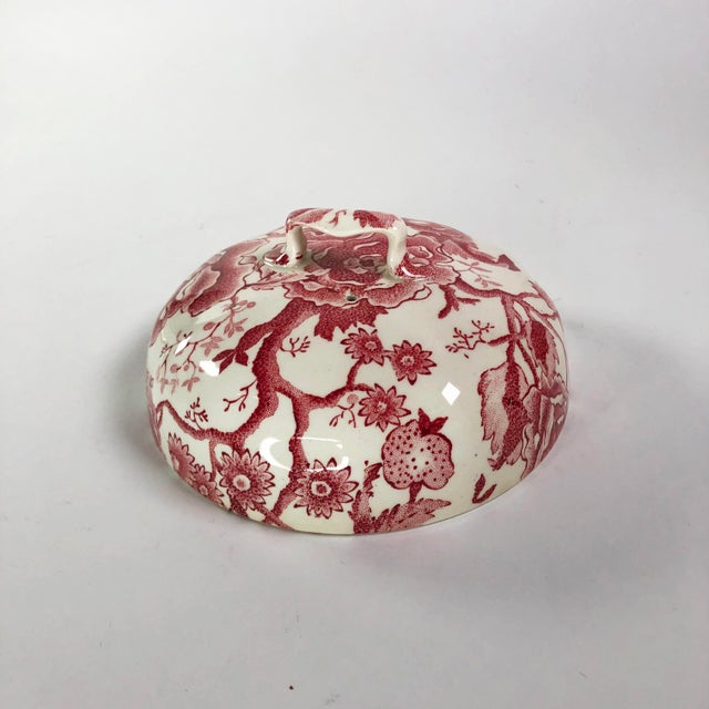 Traditional Antique Transferware Fine China Serving Dish Lid For Sale - Image 3 of 5