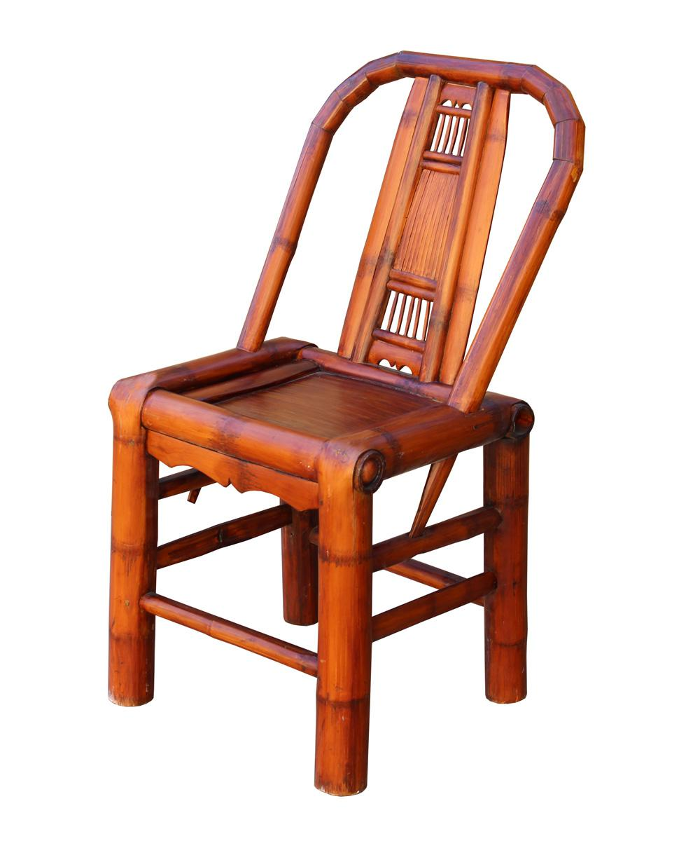 Elegant Asian Handmade Classic Oriental Village Bamboo Relax Back Chair For Sale    Image 3 Of 5