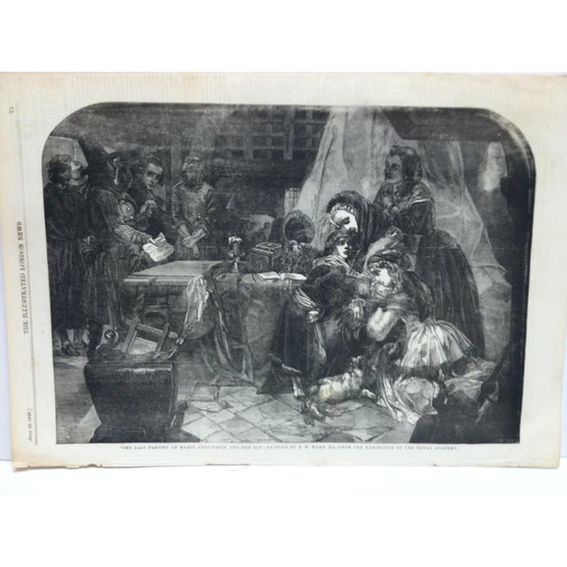 """This is an Antique Original Print from The Illustrated London News that is titled """"The Last Partying of Marie Antoinette..."""