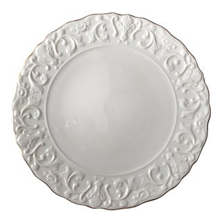 Lenox Cake Plate - Scrolled Design With Gold Edge