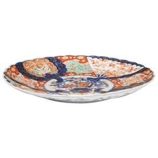 19th Century Large Imari Porcelain Charger For Sale