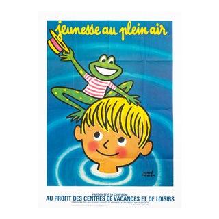 1951 French Poster, Jeunesse Au Plein Air, Hervé Movran For Sale