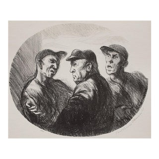 "1939 Lithograph ""Baseball Argument"" by Paul Clemens"