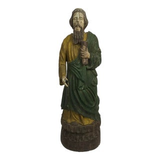 Rustic Primitive Philippine Santos Figure of a Saint For Sale