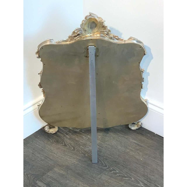 French Silver Plated Dressing Mirror For Sale - Image 10 of 12