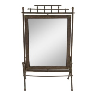 Victorian Bronze Faux Bamboo Fire Screen For Sale