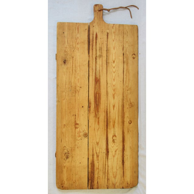 Vintage European Charcuterie Cheese Meat Bread Display Board For Sale - Image 4 of 6