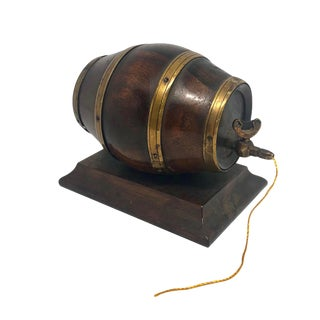 19th Century English Barrel Keg Form String Holder For Sale