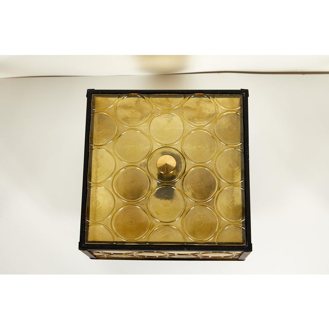 Midcentury Amber Glass Flush Mount by Moe Light For Sale - Image 10 of 13