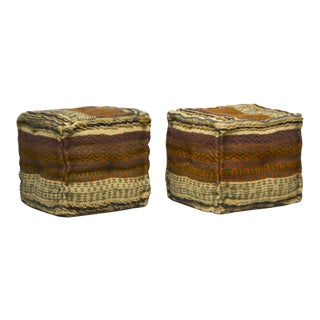 Mid-Century Moroccan Stools- A Pair For Sale