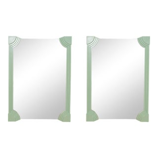 1980s Art Deco Mirrors - a Pair For Sale