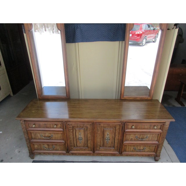 Stanley Furniture Dresser With Two Mirrors Chairish