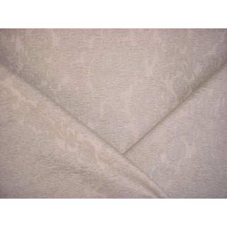 Colefax & Fowler Ruskin Beige Gray Floral Damask Upholstery Fabric - 3-1/2 Yards For Sale