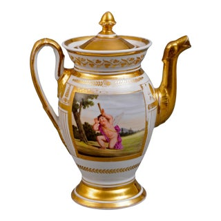 Paris Porcelain Coffee Pot, Circa 1810 For Sale