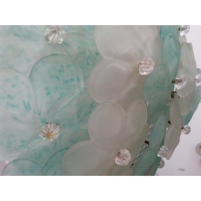 Murano Mid-Century Modern Murano Flush Mount Chandelier Floral For Sale - Image 4 of 12