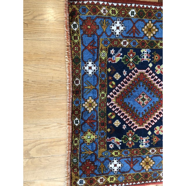 "Textile 1950s Vintage Hand-Knotted Wool Tribal Afshar Rug-3'6""x5'1"" For Sale - Image 7 of 13"