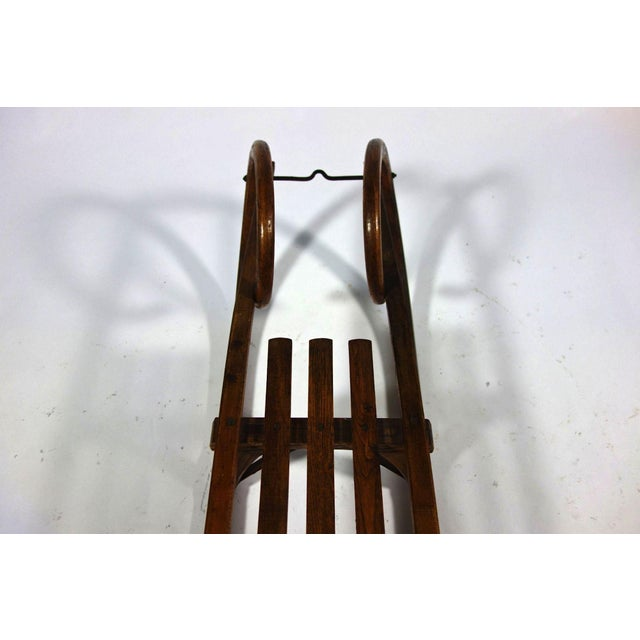 Vintage Wooden Sled Coffee Table - Image 3 of 5