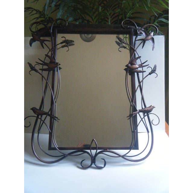 Vintage Pottery Barn Botanicals & Birds Mirror - Image 2 of 6
