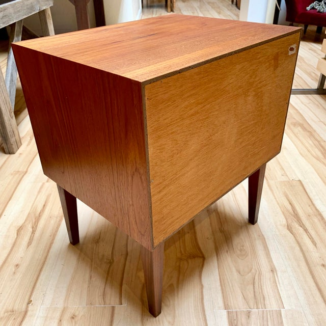 Wood 1960s Danish Modern Teak and Rosewood Nightstand For Sale - Image 7 of 13