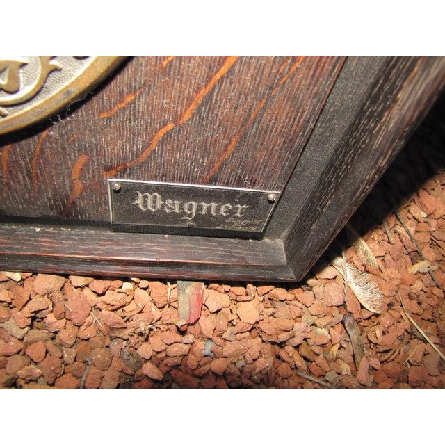 Brass Antique Framed Wagner Plaque For Sale - Image 7 of 8