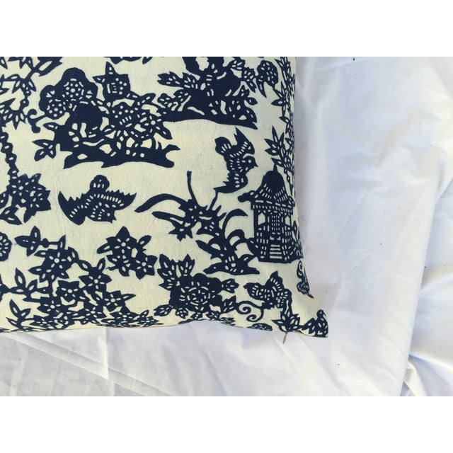Blue & White Chinoiserie Pillows - A Pair - Image 9 of 9