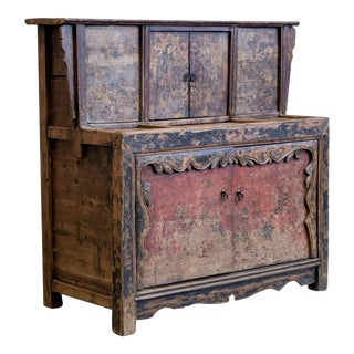 Antique Chinese Grain Cabinet For Sale