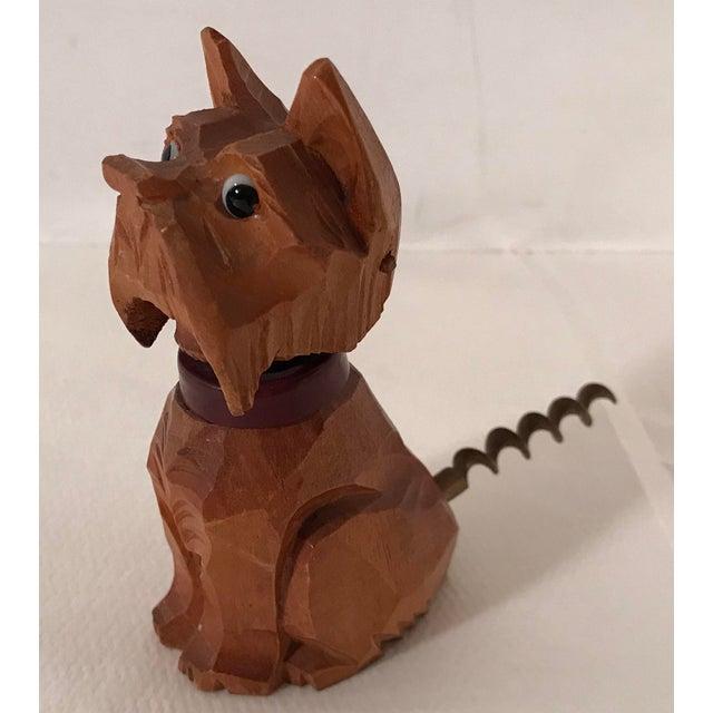 Brown Vintage Carved Wooden Scottie Dog Figural Corkscrew For Sale - Image 8 of 8