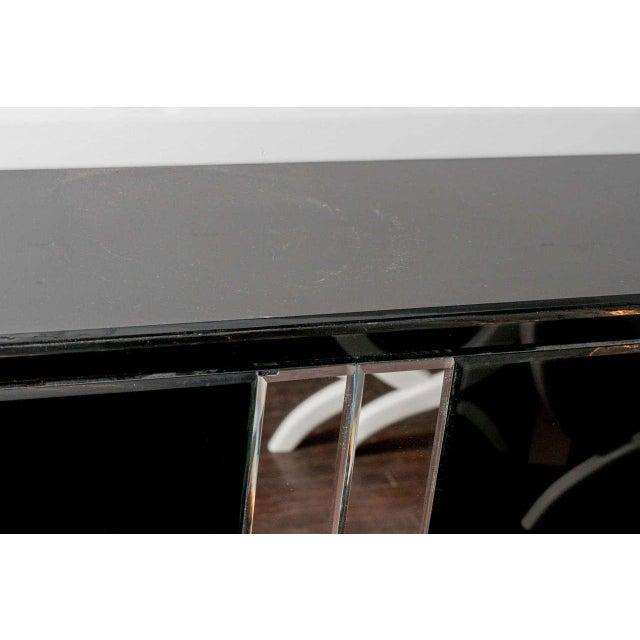 Black Glass Bar For Sale - Image 4 of 5