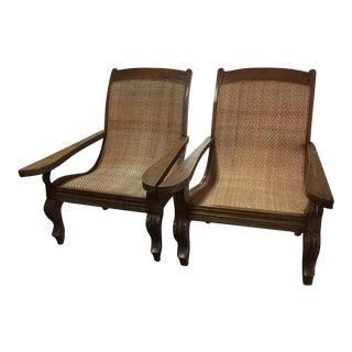 Teak Plantation Chair - A Pair