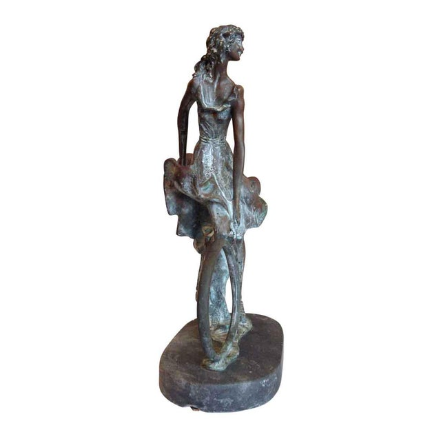 Gold Bronze Sculpture by Louis Icart For Sale - Image 8 of 8