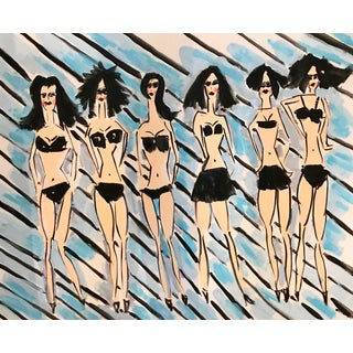 Fashion Pop Art Painting by Tony Marine For Sale