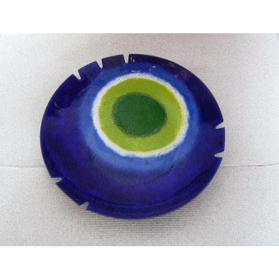 1970s Mid-Century Modern Curtis Jere Turkish Eye of Good Luck Ceramic  Ashtray