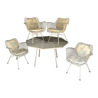 Russell Woodard Sculptura Dining Table Chairs New Cushions For Sale