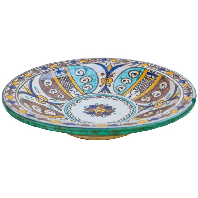Moorish Ceramic Wall Plate For Sale In New York - Image 6 of 9