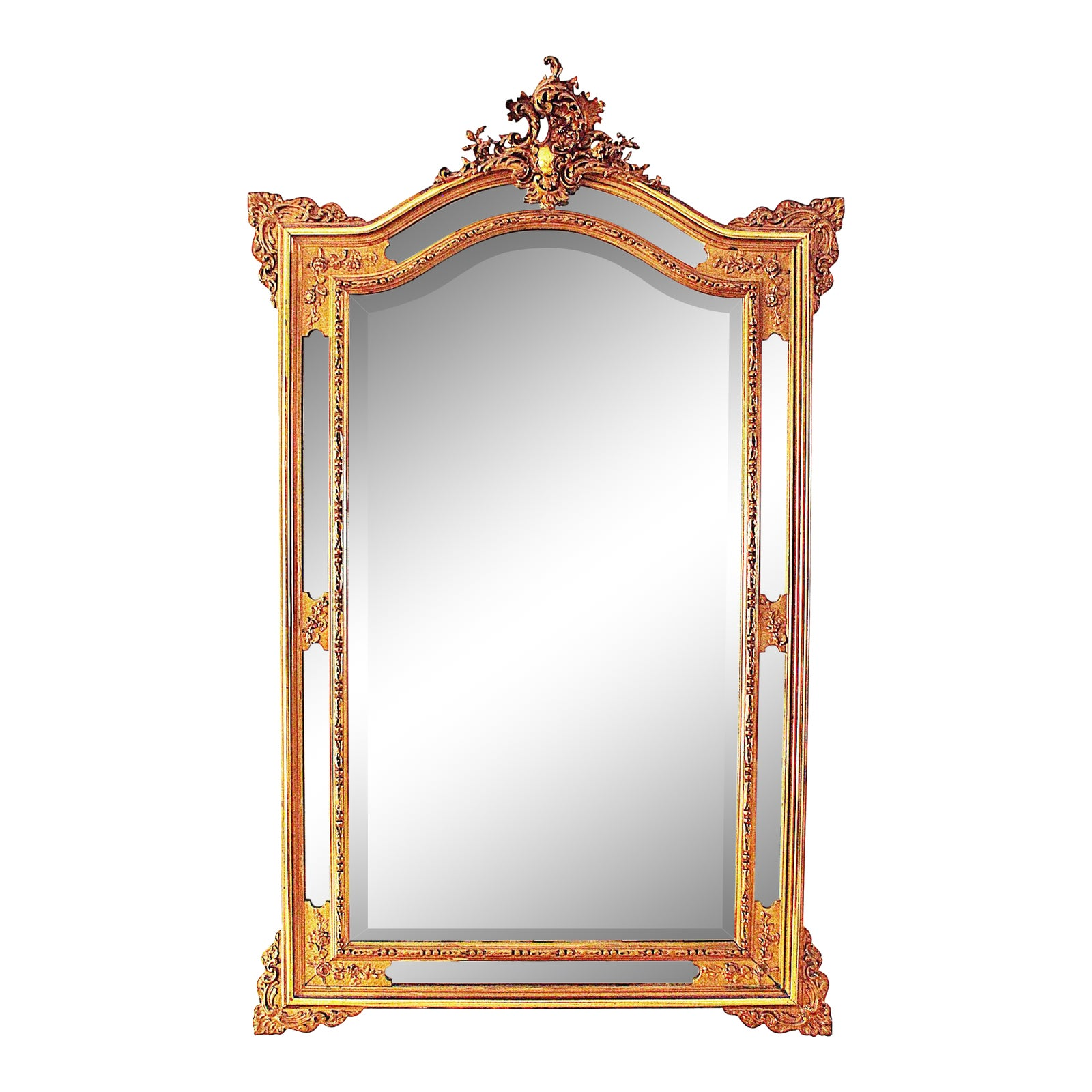 Antique French Beveled Mirror On Mirror Chairish