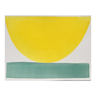 """2010s Abstract Original Painting, """"70's Jumpsuit Bowl"""" by Jenny Andrews"""