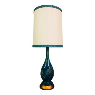 1960s Mid-Century Modern Lamp With Original Shade For Sale