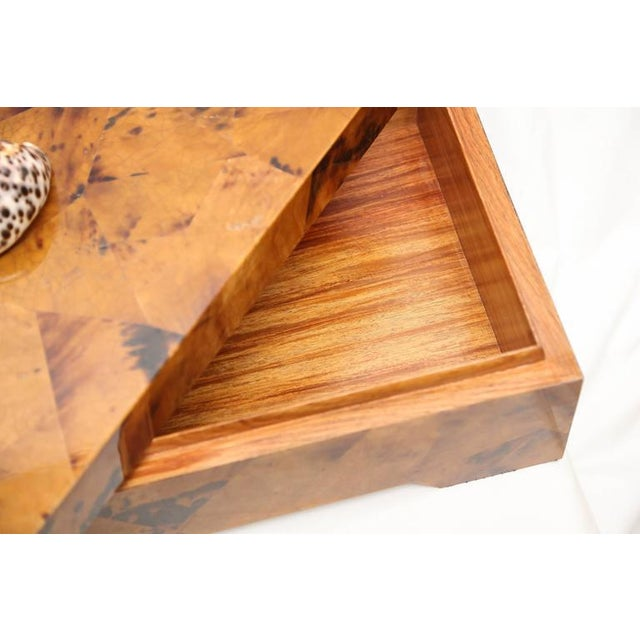Bone Eugenio Tavola by Oggetti Horn & Shell Box Over Wood For Sale - Image 7 of 9