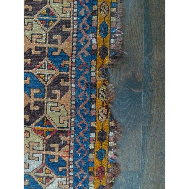 "Early 20th Century Kazak Runner Rug - 4' x 13'10"" - Image 7 of 10"