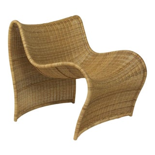 Lola Wicker Chair, Natural For Sale