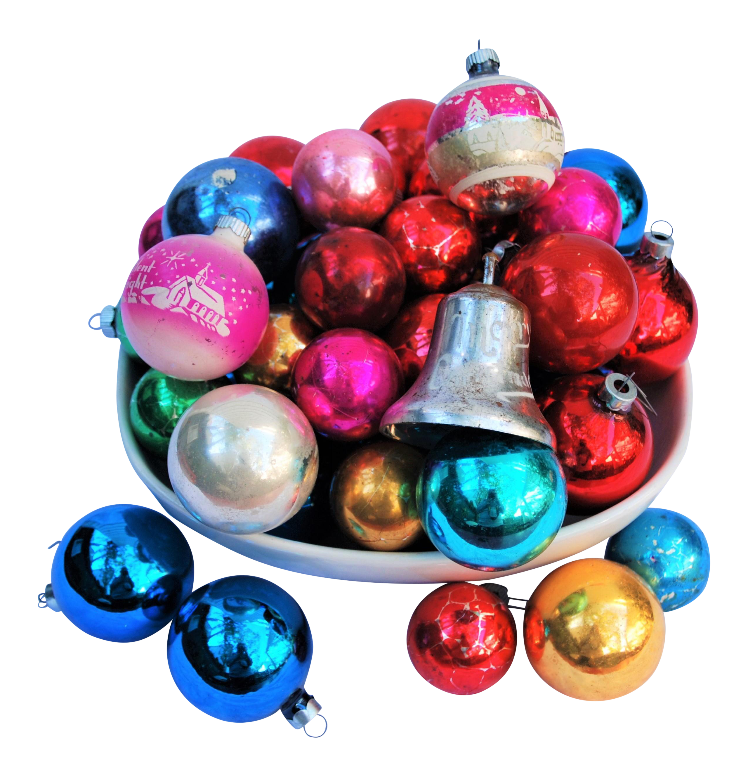 Vintage Christmas Ornaments Set Of  For Sale