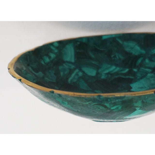Modern Small Malachite Bowl For Sale - Image 3 of 6