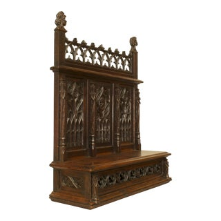 English Gothic Oak Altar For Sale