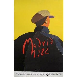 1982 Original Vintage Poster - Football World Cup, Madrid For Sale