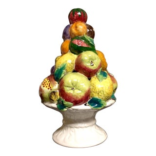 Ceramic Italian Fruit Topiary Centerpiece For Sale