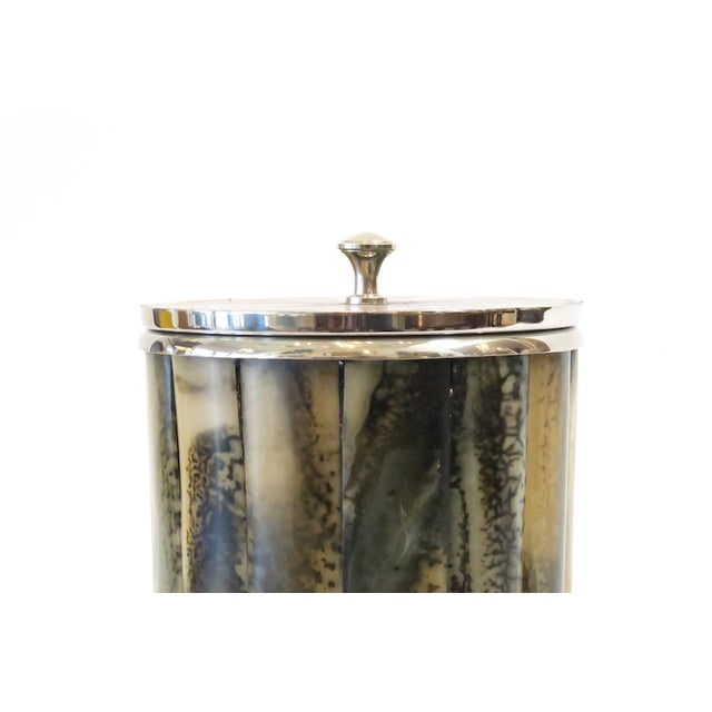 Horn & Silver Ice Bucket - Image 3 of 5