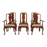 Image of 1970s Kittinger Queen Anne Mahogany Dining Room Chairs - Set of 6 For Sale