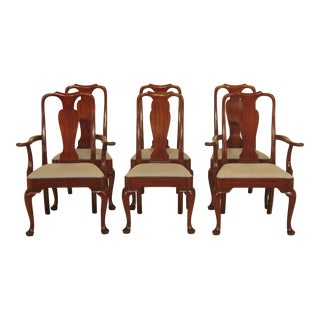 1970s Kittinger Queen Anne Mahogany Dining Room Chairs - Set of 6 For Sale